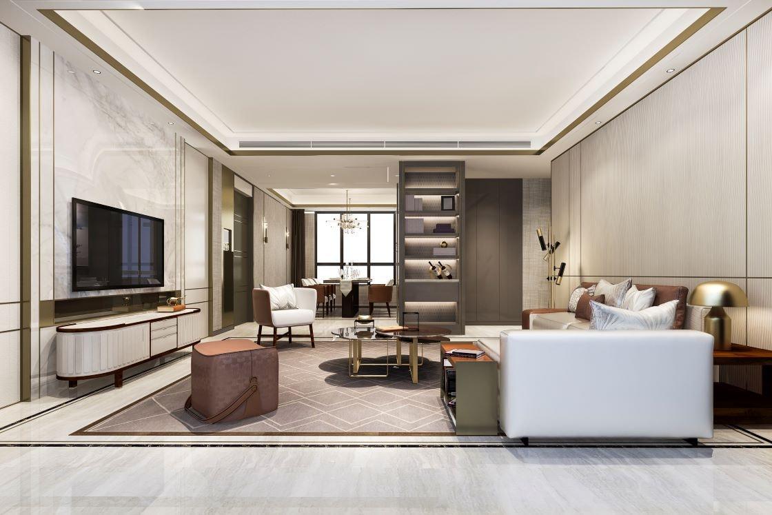 loft luxury living room
